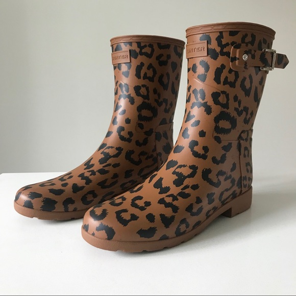 Hunter Shoes - Hunter Boots - Leopard Print (NWT)